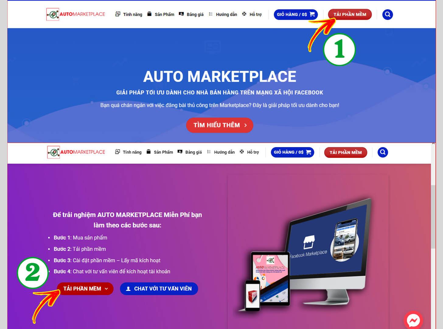 Tải phần mềm Auto Marketplace về máy