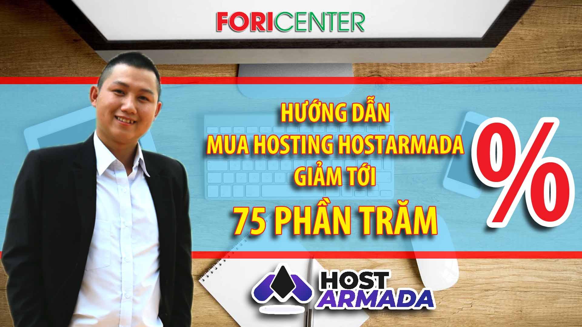 Cách mua hosting Hostarmada giảm giá tới 75 phần trăm